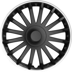 IWH 076016 Radkappen R15 Schwarz (matt), Silber 1St.