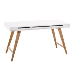 CLP Schreibtisch Porto V2, mit Eichenholzgestell