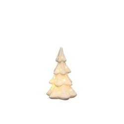 SIGRO Windlicht Porzellan Windlicht Weihnachtsbaum