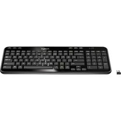 Logitech K360 Funk Tastatur Tschechisch Schwarz