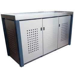Design Werkstatt Handgefertigte Mülltonnenbox für 3 x 240 l,,3 x 240 l