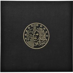 Exacompta 96101E Premium Münzalbum Numismatik mit 5 Seiten für je 43 Münzen in 20, 25 und 30mm, getrennt durch rote Register, Münzenalbum Sammelalbum Ringbuch schwarz