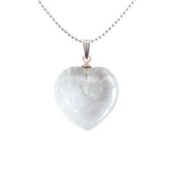 Adelia´s Amulett Herz Steinanhänger, Kristall Herzanhänger - Symbol der Vollkommenheit