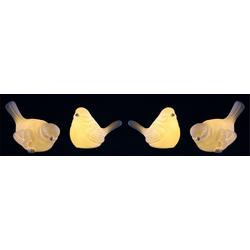Dekofigur, LED-Porzellan-Vogel (4er Set)