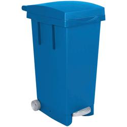 Mülleimer, BxTxH 370 x 510 790 mm, Inhalt 80 Liter, blau Mülleimer Küche Ordnung