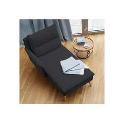 PLACE TO BE. Recamiere, Recamiere Ottomane Chaiselongue Sitzbank Polsterbank Tagesbett Daybed mit Armlehne links grau