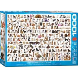 empireposter Puzzle Hundewelt - Hunde - 1000 Teile Puzzle Format 68x48 cm., 1000 Puzzleteile