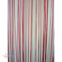 Flächenvorhang, Fadenstores, Vorhang aus Fäden, Gardine, Fadengardine, 60x245 rot
