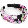 Stylebreaker styleBREAKER Haarband Haarreif mit Blumen Muster, 1-tlg., Haarreif mit Blumen Muster schwarz