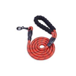 Monkimau Hundeleine Hundeleine aus Nylon, Länge: 1,5m, für große Hunde, Nylon (Packung) rot