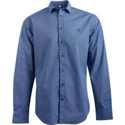 Gweih&Silk Herren Hemd GS07-172 mit blauem Muster, Farbe: Blau, Größe: M