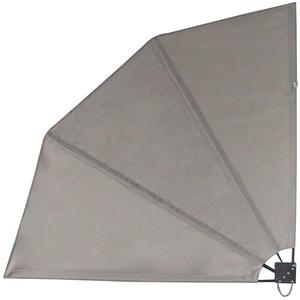 SVITA Balkonfächer Seitenmarkise Trennwand Sonnenschutz Sichtschutz 140x140cm Hellgrau Grau