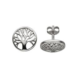 JOBO Paar Ohrstecker Lebensbaum, 925 Silber