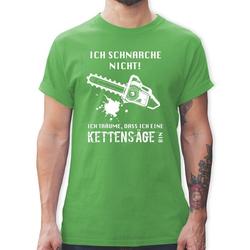 Shirtracer T-Shirt Ich schnarche nicht. Ich träume dass ich eine Kettensäge bin - Sprüche - Herren Premium T-Shirt - T-Shirts kettensäge sprüche S
