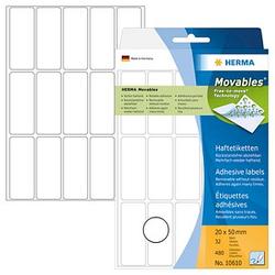 480 HERMA Movables Etiketten 10610 weiß