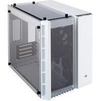 Corsair Crystal 280X PC-Gehäuse (Micro ATX mit gehärtetem Glas), Keine LED, Weiß