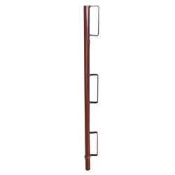 Schake Geländerpfosten für Compakt S, braun lackiert