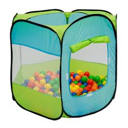LittleTom Spielzelt Spielzelt Pop-Up-Zelt Bällebad indoor/outdoor Kinderspielzelt inkl. Tasche