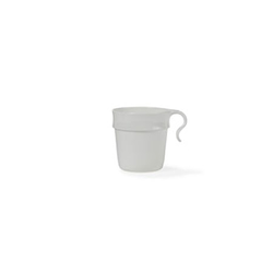 Nordiska Plast Becher mit Griff 300 ml Weiß