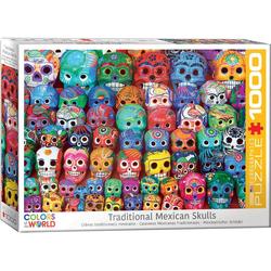 empireposter Puzzle Traditionelle Mexikanische Totenschädel zum Dia de Muertos - 1000 Teile Puzzle im Format 68x48 cm, Puzzleteile