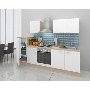 Küchenblock ECONOMY 270 in Weiss und Eichefarbe