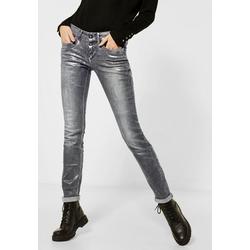 STREET ONE Slim-fit-Jeans in Schlangenhaut-Optik 32
