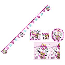 LOL Surprise Einweggeschirr-Set LOL Surprise - Einweg-Party-Set für Kindergeburtstag, 38 Teile