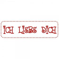 Liebe Holzstempel - Ich liebe Dich (70x20 mm)