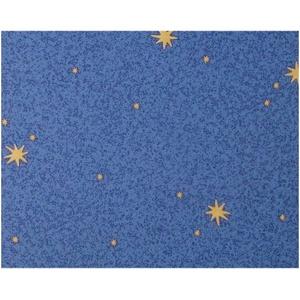 A.S. Création Strukturprofiltapete Dekora Natur Tapete Leuchtsterne Sterne leuchten im Dunkeln 10,05 m x 0,53 m blau gelb Made in Germany 911711 9117-11