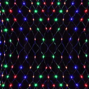 UISEBRT LED Lichternetz Lichterkette 3 x 2m Bunt Innen und Außen Dekoration für Weihnachten Hochzeit Party, mit 8 Leuchtmodi (3 x 2m, Bunt)