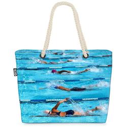 VOID Strandtasche (1-tlg), Schwimmen Wettkampf Beach Bag Sport Schwimmen Schwimmbad Urlaub Pool