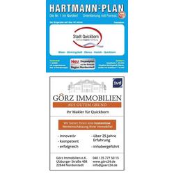 HARTMANN-PLAN Quickborn mit Bönningstedt Hasloh und Ellerau 1:20.000 Stadtplan