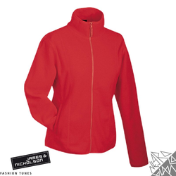 Damen Fleecejacke | James & Nicholson rot M