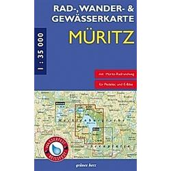 Rad-  Wander- & Gewässerkarte Müritz - Buch
