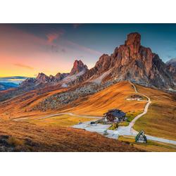 Fototapete Alpine Pass Dolomites, glatt 5 m x 2,80 m