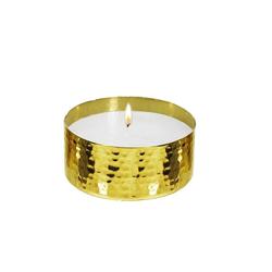 EDZARD Kerzenhalter Ina, inkl. Kerze goldfarben Kerzen Laternen Wohnaccessoires