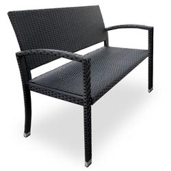 Deuba Gartenbank, UV-Beständig schwarz 46 cm x 87 cm x 0 cm
