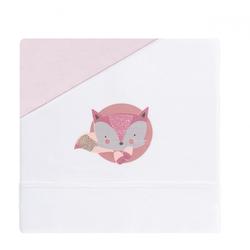 Träume Fox White / Pink Baby Sheet Set für Kinderwagen