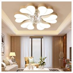 Natsen Deckenleuchte, 54W+4W LED Deckenlampe Kronleuchter Volldimmbar mit Fernbedienung Kristallampe [Energieklasse A++] Ø 72 cm