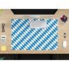 cover-your-desk.de cover-your-desk.de Schreibtischaufsatz Schreibtischunterlage – Flagge Bayern – 60 x 40 cm – aus hochwertigem Vinyl, (1-St)