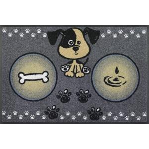 wash+dry Fußmatte, Hundemahlzeit 50x75 cm, innen und außen, waschbar