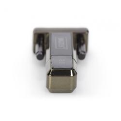 DIGITUS USB2.0 Seriell-Adapter DSUB 9M inkl. USB A Kabel 80cm
