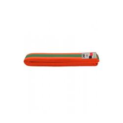 BUDO-GÜRTEL, DAX, ORANGE/GRÜN/ORANGE (Größe: 220, Farbe: Orange)