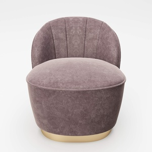 PLAYBOY Cocktailsessel mit Goldfuss und Samtbezug in Rosa, Sessel aus Samtstoff, Polstersessel aus Samt, Lounge Stuhl, Chair, Retro-Design, Club-Stil