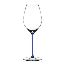 RIEDEL Glas Champagnerglas Fatto A Mano Champagne Dark Blue, Kristallglas weiß