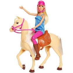 Barbie® Pferd mit Puppe (blond), Anziehpuppe, Modepuppe, Pferde Spielzeug