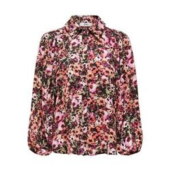 ONLY Blumenprint Hemd Damen Schwarz Female M