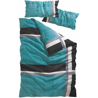 H I S Linus Linon türkis 135 x 200 + 40 x 80 cm