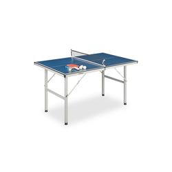 relaxdays Mini-Tischtennisplatte Tischtennisplatte Indoor mit Zubehör