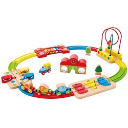 Eisenbahn-Set, bunt - bunt